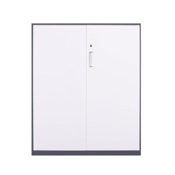 臻远 文件柜,办公柜拆装窄边柜灰白色加厚款 1090对开铁柜,长900*宽400*高1090mm