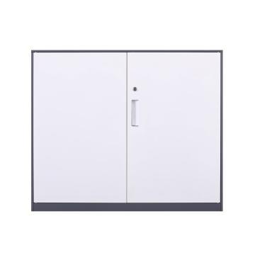 臻远 文件柜,办公柜拆装窄边柜灰白色加厚款 760对开铁柜,长900*宽400*高760mm