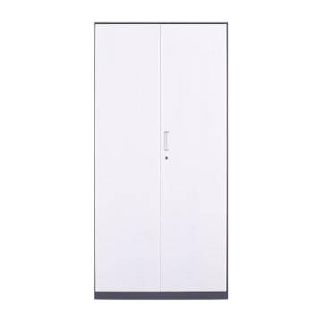 臻远 文件柜,办公柜拆装窄边柜灰白色加厚款 铁门对开,长900*宽400*高1850mm
