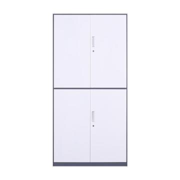 臻远 文件柜,办公柜拆装窄边柜灰白色加厚款 通双节,长900*宽400*高1850mm
