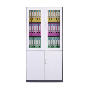 臻远 文件柜,办公柜拆装窄边柜灰白色加厚款 大器械,长900*宽400*高1850mm