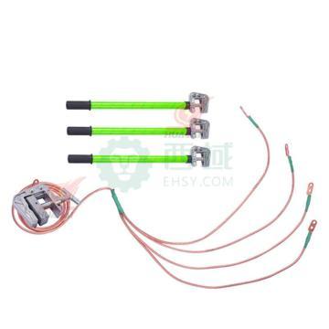 华泰 400V接地线(4*1.5+12米 16mm²接地线 配3根1米平口螺旋接地棒 配地夹)