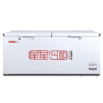 星星 718L商用卧式单温冰柜冷藏冷冻转换冷柜,BD/BC-718G,机械温控,常规大柜