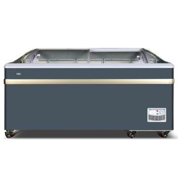 星星 600L商用大圆弧玻璃门展示冷藏冷冻柜,SD/SC-600BY(灰色),机械温控,左右移门