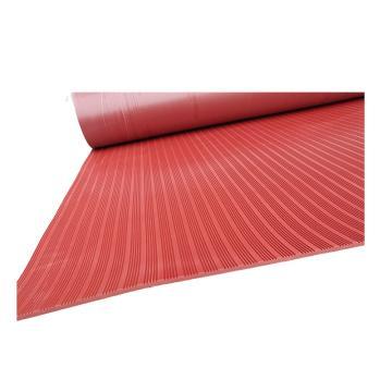 联护电力 15KV、6mm厚、5米/卷红色防滑/平面、绝缘橡胶垫、绝缘地胶、配电室用绝缘胶板、现做