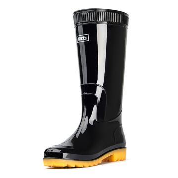 回力 男士高筒雨鞋,黑色,807,39