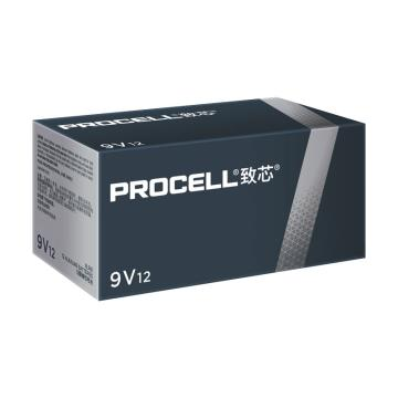 Procell致芯碱性电池,9V 高性能,12粒/盒,单位:盒