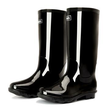 回力 黑色高筒雨靴,838单层,43