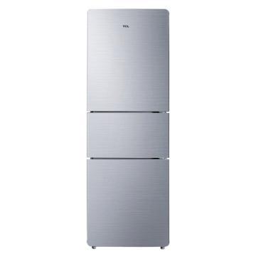 TCL 215L三门家用冰箱,BCD-215TC,直冷微霜,节能静音,中门软冷冻,即切即用