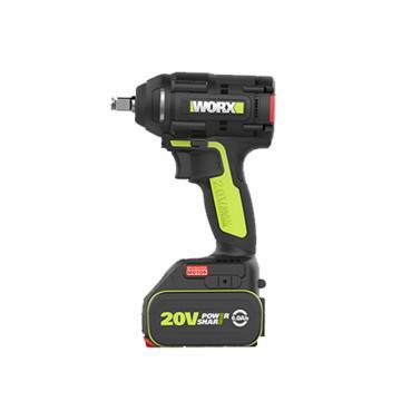 威克士锂电冲击扳手,1/4寸夹头 20V 5.0Ah 两电一充,WU294