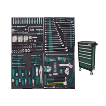 世达 242件通用机修工具车组套 (包含95126-6抽工具车),09932