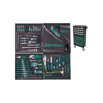 世达 210件机修工具车组套(包含95125-4抽2门工具车),09925