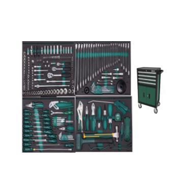 世达 231件机修工具车组套(包含95125-4抽2门工具车),09924