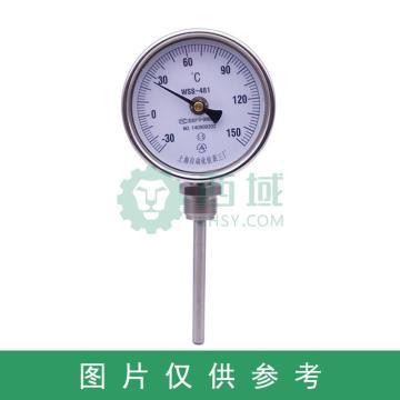 西域推荐 双金属温度计,WSS-411 0-300度 L=50MM M27*2 1.6级