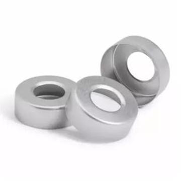 瓶盖,钳口,顶空,20 mm,银色铝质盖,不带隔垫,100/包。瓶盖尺寸:20 mm