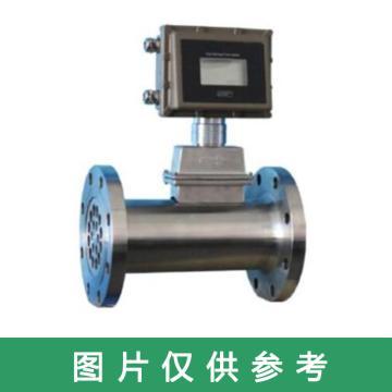 天津大港 气体涡轮流量计LWQ-C-GB-B-300,DN300 法兰 温度补偿型1.5级 1.6MPa 4-20MA IP65