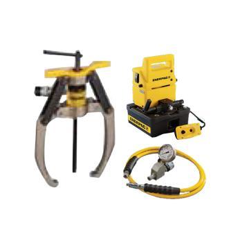 恩派克ENERPAC 自锁紧式液压拔轮器套件,24ton 3爪(含拔轮器+泵PUD1300E和油表表座油管),LGHS324EE