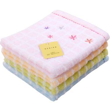 内野 纯棉四方小毛巾,9704G048-N 34*38cm 随机色 单位:条
