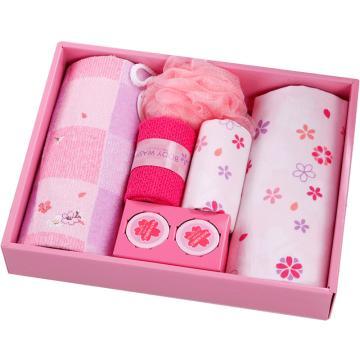内野 樱花7件套毛巾礼盒,R20448 34*26.8*6cm 随机色 单位:盒