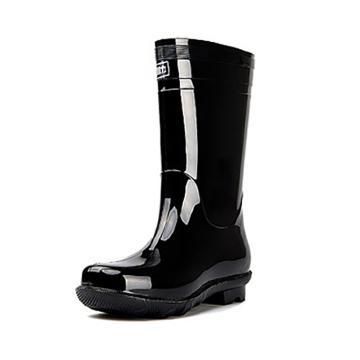 回力 黑色中筒雨靴,838单层,44