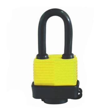 罕码 防风雨挂锁 黄色,HMLK2401