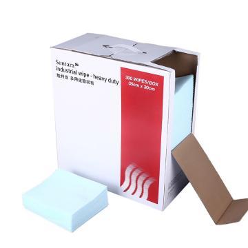 胜特龙 SONTARA 擦拭布,HD-1 30*35cm,300片/盒,4盒/箱 青绿色 单位:箱