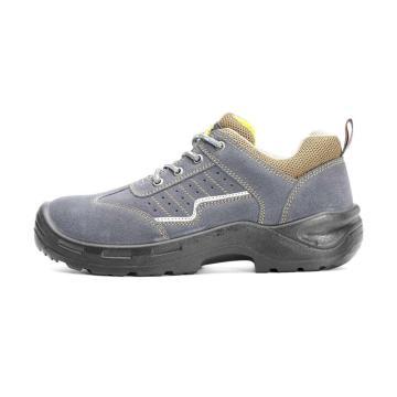 固邦特 安全鞋,防砸防刺穿,牛皮反绒,42,定制款
