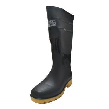 西域推荐 高筒雨靴,PKXZ-001-43,防滑耐油 牛黑色