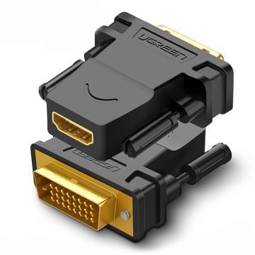绿联视频转接头,DVI(24+1)公转HDMI母转接头 20124 可相互转换