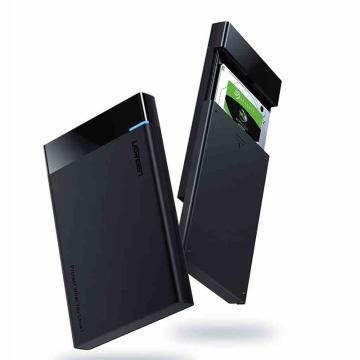 绿联2.5英寸移动硬盘盒,Type-C线 支持SATA3.0 支持9.5mm及以下2.5英寸串口硬盘 US221(50743) 黑