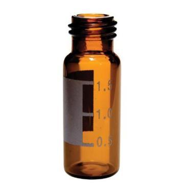 赛默飞世尔 SureStop 9 mm 2 mL宽口螺口样品瓶, 棕色带标签,100个/包