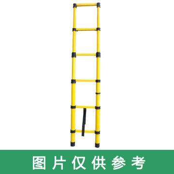 华泰 绝缘玻璃钢鱼竿梯,额定载荷(KG):150,HT-037 3M 8阶