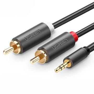 绿联3.5mm公转2RCA公音频线,AV102(10511)1.5m