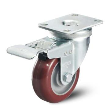 科顺 100聚氨酯双刹掣脚轮,轴承 滚珠,2-4646-95BRK4