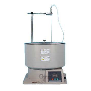 磁力搅拌浴,温度范围:RT+5~200℃,集热式恒温,转速:0-2000rpm,容积:6.5L,HWCL-5