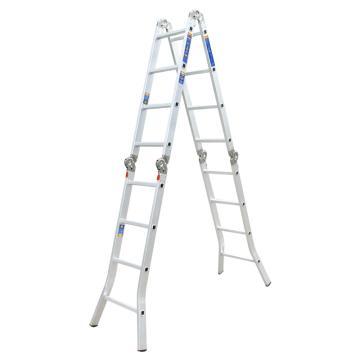 瑞居 六关节铝合金梯,额载(kg):110 阶数4*4 直梯长度(cm):495.5,YQGJT-6-5000