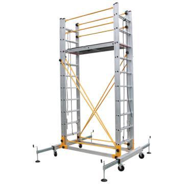 瑞居 拉伸脚手架,额载(kg):230 平台高度(cm):440 外观尺寸(cm):180*190*520,RJ-ALUM-T4.4