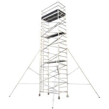 瑞居 双宽内梯铝合金脚手架,额载(kg):275 平台高(cm):820 尺寸(cm):250*125*928,RJ-ALUM-DWI8.2