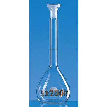 普兰德 容量瓶,BLAUBRAND® ETERNA, A级,20 ml,宽颈,Boro 3.3, NS 12/21,PP瓶塞