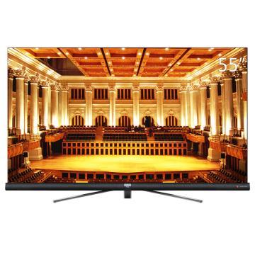 TCL电视机,55C6S 55英寸4K超高清 防抖全面屏 哈曼卡顿音响 高色域防蓝光护眼网络液晶电视 包安装