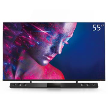 TCL电视机,55C10 55英寸液晶电视机 4k超高清 量子点全面屏 智慧屏 前置独立音响 157%超高色域