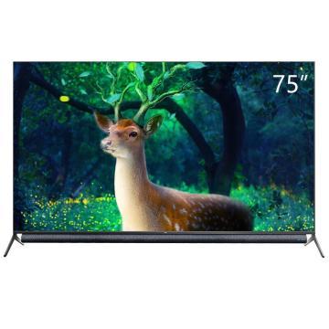TCL电视机,75P9 75英寸平板电视 原色高色域34核人工智能语音LED电视 安桥音响无边全面屏 包安装