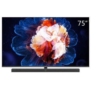 TCL电视机,75C10 75寸 4k超高清 5.9mm超薄 量子点全面屏 智慧屏 前置独立音响 157%超高色域