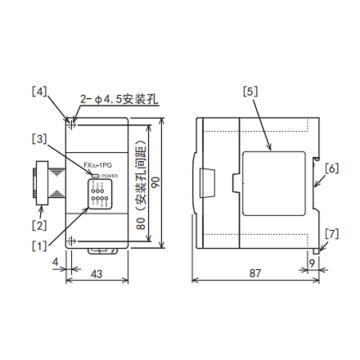 三菱电机MITSUBISHI ELECTRIC PLC模块,FX3U-1PG