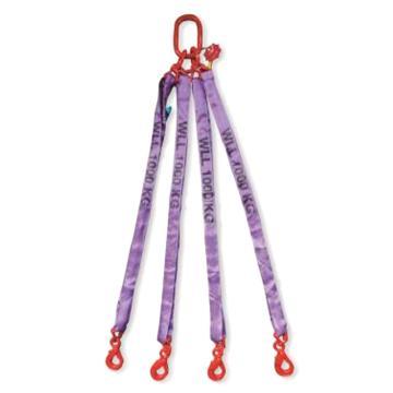 多来劲 四腿圆形吊装带组合吊具,2.1T×2m(总长)80级眼形自锁安全吊钩,0544 2104 02
