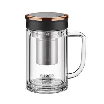 苏泊尔 集茶玻璃杯,.享系列.楠木金 KC42CL1