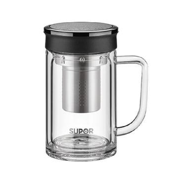 苏泊尔 集茶玻璃杯,.享系列.乌木黑 KC42CL1