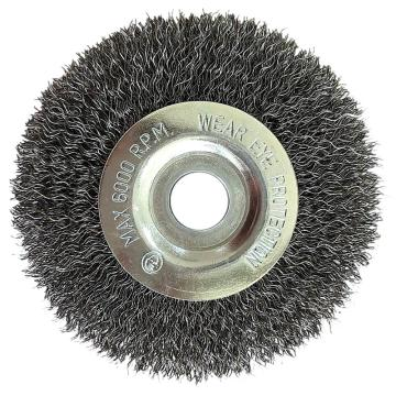 库兰平行钢丝轮,100mm,钢丝/0.3mm丝径 /12.7配10适应圈 /镀锌/RPM4500,2个/盒