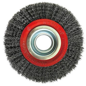 库兰盘形钢丝轮,125机用,钢丝/0.3mm丝径/外径125mm/内孔20/厚25/RPM8500,1个/盒