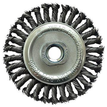 库兰盘形钢丝轮,100螺扭平,钢丝/0.5mm 丝径/外径100mm/M10*1.5/转速12500,2个/盒